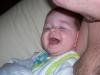 Bij papa lachen!