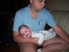 Bij papa hangen en lachen!