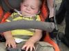 In de kinderwagen liggen
